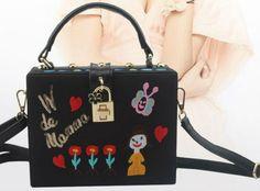 Women Shoulder Bag Applique Embroidery Handbags Bag Leather PU Mini Crossbody