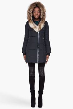 KAY by MACKAGE is an above the knee length, classic down coat with signature collar. Shop MACKAGE Online Here. Fur Collar Coat, Fur Collars, Fur Coat, Down Parka, Down Coat, Black Espadrilles, Winter Looks, Winter Wear, Fur Trim