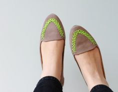 Amp Up an Old Pair of Flats With a Neon Paint Pen