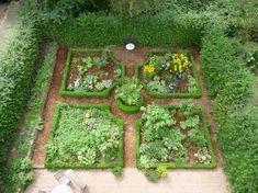 Bauerngarten von oben