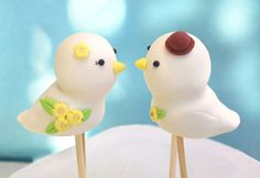 Cute Love birds wedding cake toppers  Personalized by PassionArte, $52.00