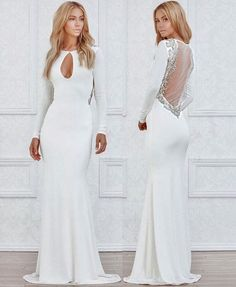 Bryana Holly wearing LURELLY Capri gown