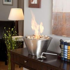 Fire Bowl For Tabletop Or Custom Structure | Neutral Glass | Exteriors |  Pinterest | Fire Bowls, Tabletop And Bowls