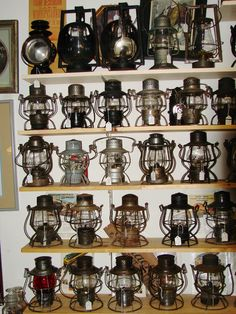 A few railroad lanterns.