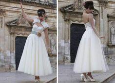 Rockabilly fashion , wedding dress