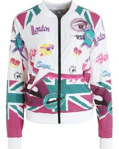 Fila Tracksuit top - white for with free delivery at Zalando Tracksuit Tops, Online Shops, Motorcycle Jacket, Adidas Jacket, Athletic, London, Jackets, Fashion, Cheap Fashion