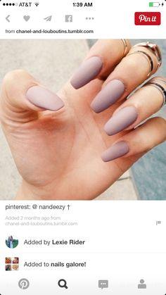 Nails shape and matte color.