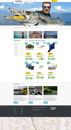 PrestaShop Theme , Fishing Store