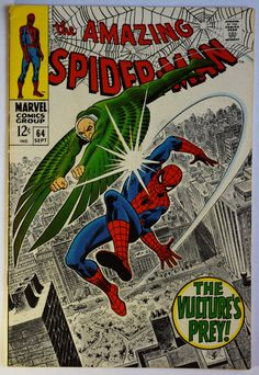 Amazing Spiderman 64 Comic Book, Vintage Spiderman Comic, Silver Age Comic, Early Amazing Spiderman Comic(s) Book(s), Marvel Spiderman comic by Rochford23 on Etsy