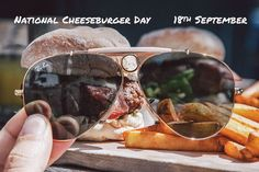 National Cheeseburger Day // September 18 // #Aviator RB3138 001 // http://neverhi.de/kkx7