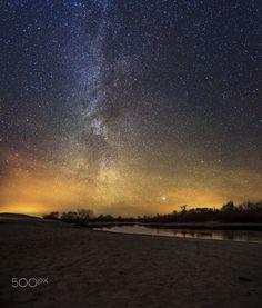Winter Milky Way over the lake --- Nikita Kharlanov on 500px