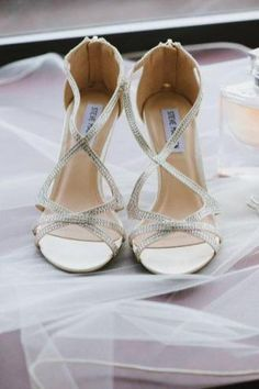 b8511494001203 Strappy silver heels for bridal shoes Stefania Bowler Photography