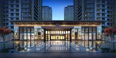 Chinese Architecture, Architecture Office, Classical Architecture, Residential Architecture, Amazing Architecture, Entrance Design, Entrance Gates, Facade Design, Gate Design