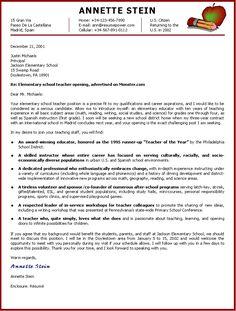 write application letter for teaching