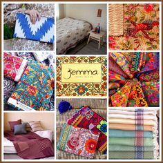 Jemma is all about home décor - handmade cotton block print tablecloths, curtains, quilts, cushions, and toiletry bags.  Jemma was born out of my passion for design, textiles, and aesthetics, and offers you a variety of unique, high-quality handmade products in the Bohemian style. These colorful authentic products will brighten your home and add color to your life.