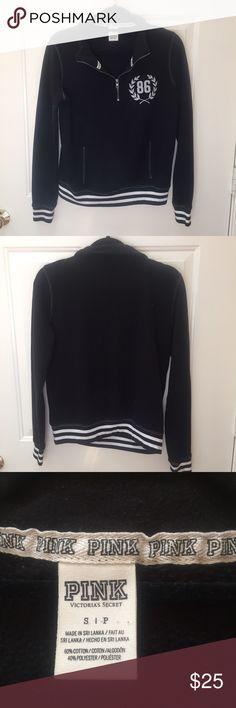 PINK quarter zip pull over PINK • quarter zip • small • pullover • PINK Victoria's Secret Tops Sweatshirts & Hoodies