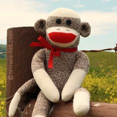 My son had a sock monkey when he was little - it has always been one of our favorite toys!!!