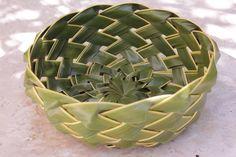 Arte com folha de coqueiro