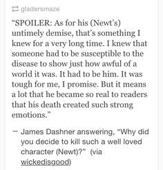 Why James Dashner, WHYYYY?????