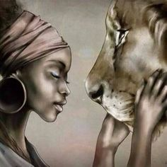 leo woman over lion face - Google Search