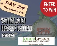 Day 24 - Enter to Win a Mini Ipad courtesy of Jones Brown