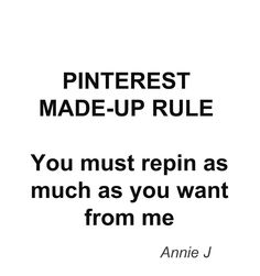 Pinterest Made-up Rule No 4