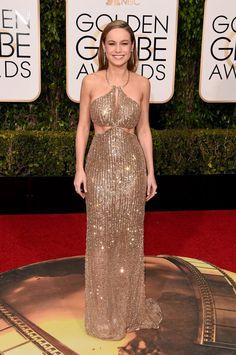Pin for Later: Ne Manquez Pas un Seul des Looks Vus aux Golden Globes Brie Larson Portant une robe signée Calvin Klein.