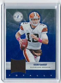 a2f1935658a Colt McCoy 2011 Totally Certified Blue Materials. Cleveland Browns  Collectionary
