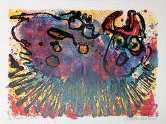 Jan van der Meulen - Poes | Staaldruk 50 x 60 cm € 280,- |   Expositie Jan van der Meulen 80 jaar bij Galerie Bax Kunst. Tachtig schilderijen in de Galerie, Kunstencentrum Atrium & Theater Sneek | www.baxkunst.nl | #art #contemporaryart #dutchartist #expo #Sneek #Baxkunst
