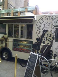 sweet street food truck, love the sweets window at the bottom.