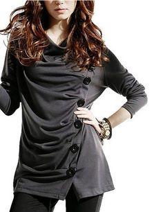 Sweatshirts/Hoodies - Dresseva Casual Long-Sleeve V-Neck Regular Gray Sweatshirts/Hoodies for only 16.90 DEHH1774_GR_S!!!