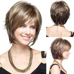8.99AUD - Women Short Straight Brown Synthetic Hair Heat Resistant Cosplay Wig+Wig Cap W7 #ebay #Fashion