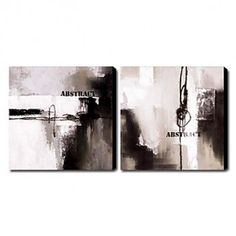 Hand-painted Oil Painting Abstract Set of 2 1211-AB0050 - OutletsArt.com