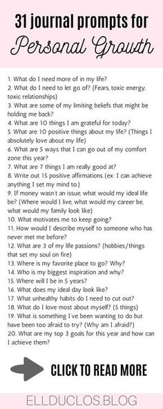 Journal Prompts for Personal Growth & Discovery