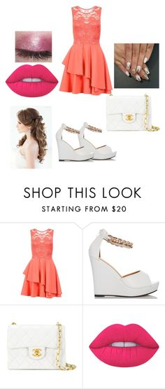 """""""Prom?"""" by yoitsdd ❤ liked on Polyvore featuring Dorothy Perkins, Chanel and Lime Crime"""