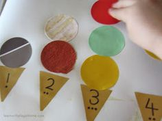 Learn with Play at home: Ice Cream Number Learning Activity