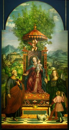 Girolamo dai Libri - Umbrella Madonna. 1530