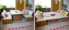 DIY Outdoor Lounge – Table Hybrid |