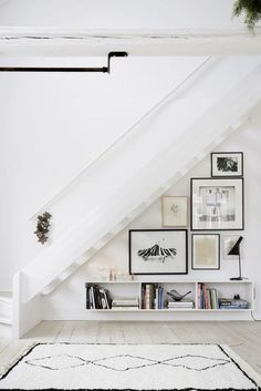 If you have a house with two floors, you can make use the space that's under the stairs to make a lot of cool corners or storage spaces. To help you out we picked seven dreamy ideas: 1. Make a clos