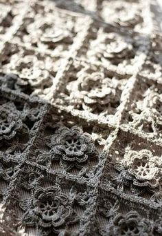 Crochet square with flower by Lucinda Marie Martinez