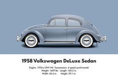VW Beetle 1958 deluxe sedan