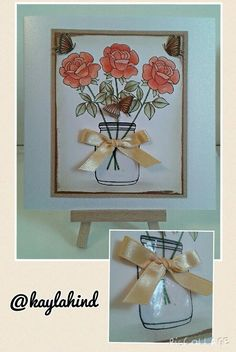 Beautiful card by Mikaela Hind using the FREE Clearly Besotted stamp set with Simply Cards & Papercraft 133. Grab yours here: http://www.moremags.com/home-page-scroller/issue133-simply-cards-papercraft