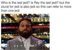 """Nobody knows but I'm placing bets on Kylo Ren crawling back to the light side hence """"last Jedi"""""""