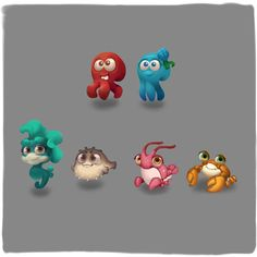 Air Dry Clay Ideas For Kids, Game Character, Character Design, Art Icon, Map Design, Matching Games, Deep Sea, Woodland Animals, Sea Creatures
