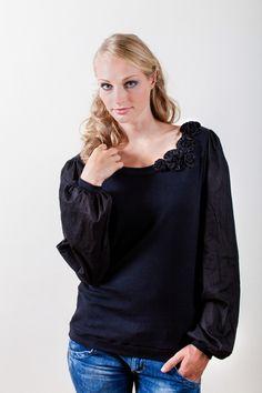 Langarmblusen - Shirt SILENT GARDEN schwarz ORGANIC - ein Designerstück von LUK-SUS bei DaWanda