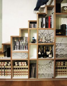 stylish staircase storage - Google Search