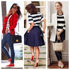 Blusa de Rayas #ClosetEssentials Para ese look nautico o Parisino 😉 checa mi blog www.SallySalas.com para encontrar tips de estilo!
