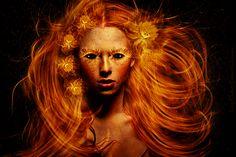 fiery Flower Power by Lhianne.deviantart.com on @DeviantArt