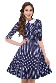Vintage Kleid mit Peter Pan Kragen