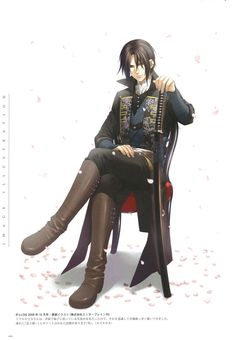 This picture is actually based off of a real photo of toshizo hijikata, a real historical figure